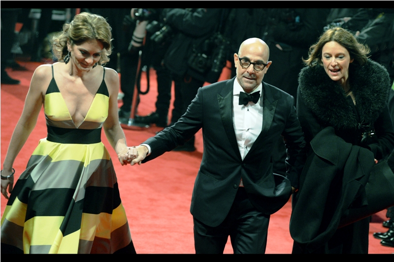 """Sorry - can't stop - my wife's hypothermia is so pronounced that she can't ask me for my jacket""  - Stanley Tucci."
