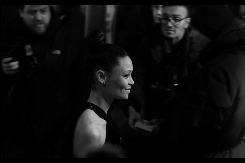 "Side-view of Actress Thandie Newton. She declined to pose for the Paparazzi (I was in their pen as the entry requirements amounted to ""you have a camera? okay, then...."" and by the end of the night that had extended to 'you have a mobile phone with a camera? okay, then..."")"
