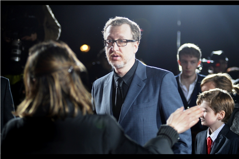 """I'm sorry sir but we can't allow your son to see the degree of worshipful fawning over Charlie Hunnam that we're anticipating at this event...."" -Director James Gray has arrived and pretty accurately scoped out the mood of the premiere."