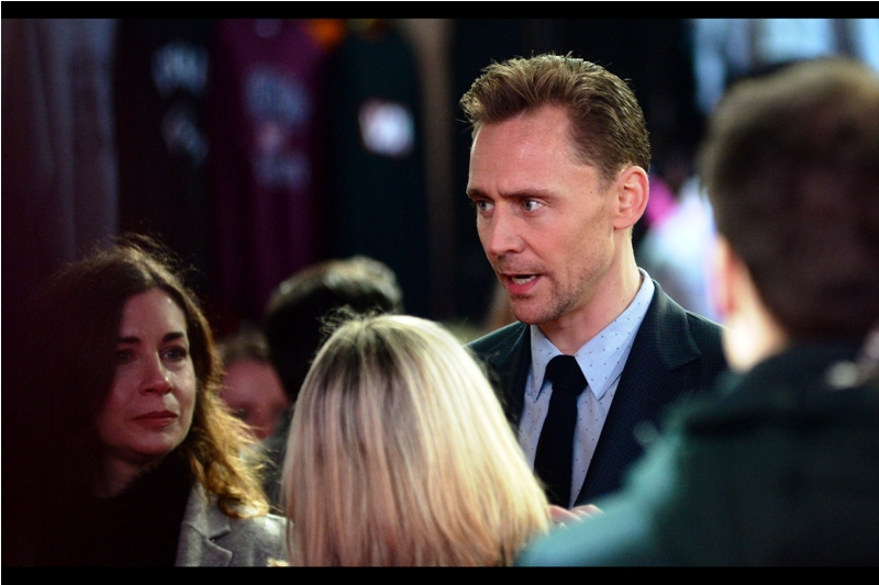 """The beard is magnificent. I must have it. Even if I never actually wear it - it must be mine"" - this movie's lead Tom Hiddleston, arguably best known for being Loki in the Marvel Cinematic Universe, arrived earlier to much screeching, cheering and swooning."