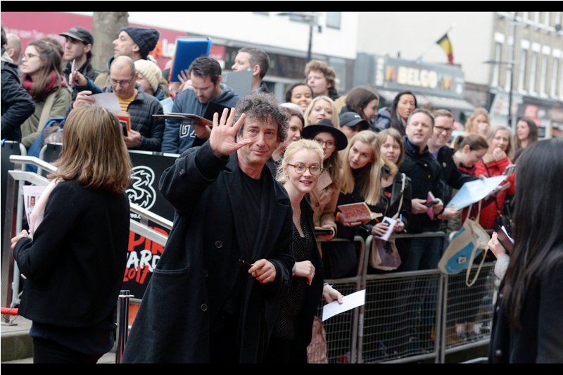 """Indeed, this IS the hand I use to type almost half of all the novels I write!""  Our first major arrival is a pretty big deal, actually : author Neil Gaiman"