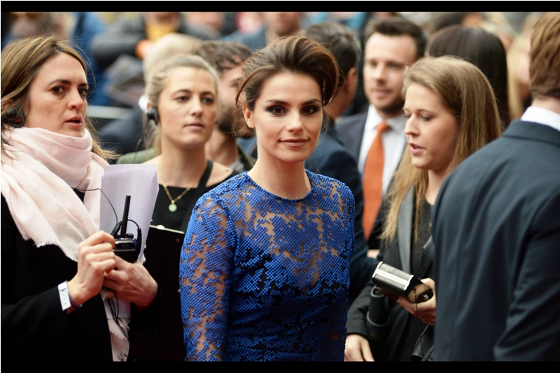 """I think the design of the dress-cover is ""pixel-top"" but I'm not sure what the hairstyle is called"" - I last photographed Charlotte Riley at the premiere of ""In The Heart of the Sea"" in 2015."
