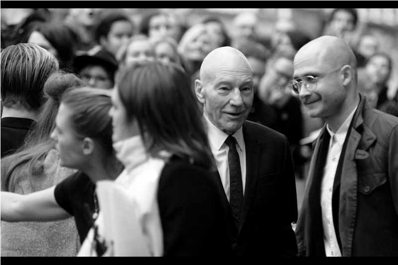 """Never fake a bald head, son. The ladiez can tell if it's not the real thing"" - Sir Patrick Stewart was great in the recent films ""Logan"" and ""Green Room"" (neither of which, sadly, had premieres). I think I last photographed him at the premiere of Mr Holmes."