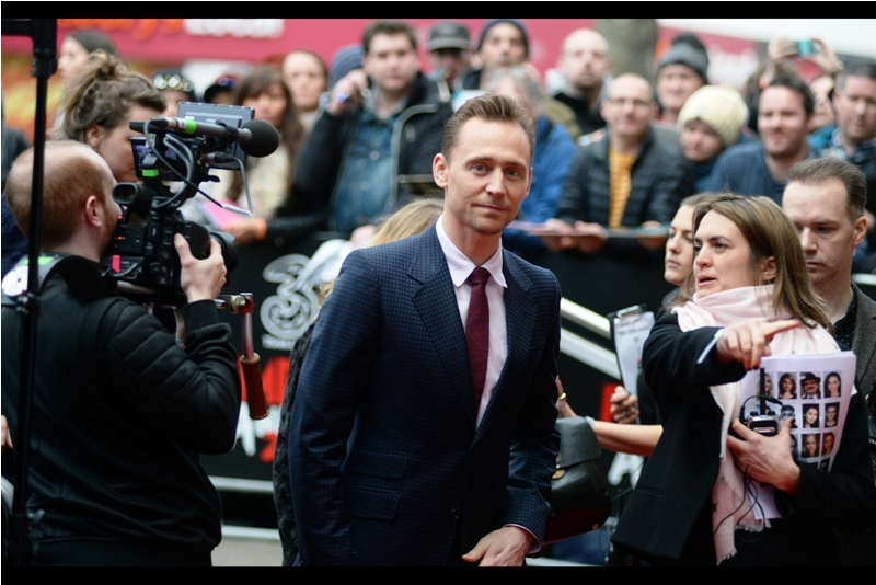 """And that's where my car is parked. Basically, you and I could just get into that and drive away, and leave all ths madness behind. Just you, me, my pink scarf and the French Riviera. PLEASE??"" - Tom Hiddleston is best known for being Loki in the Marvel Cinematic Universe, and has been at such premieres as ""High-Rise"" and ""Thor The Dark World"", as well as most recently ""Kong : Skull Island"""