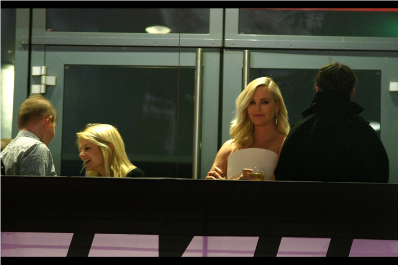 You know, some days, and not even every day, you would want a position that's ever so slightly on the top floor of a cinema balcony standing next to Charlize Theron.