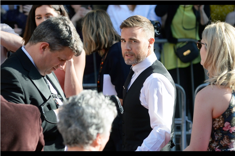 Gary Barlow, wondering whether it's his fans that are screaming that loudly, or whether fans of London Theatre are putting down their monocles, programs and canapes to also shout loudly at him.