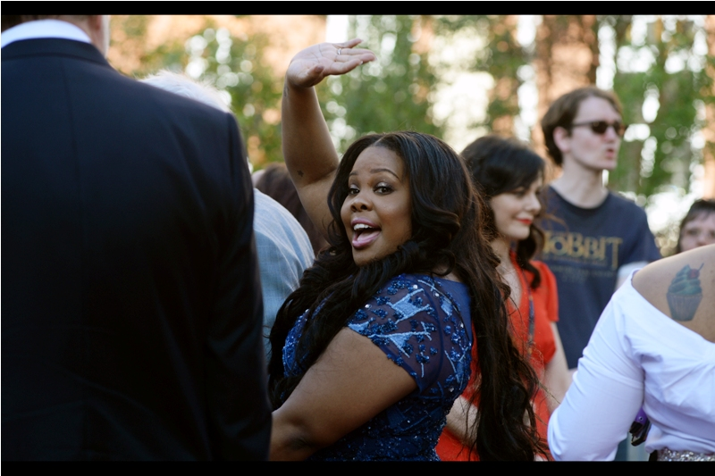 """Hey, there, cripplingly culturally impoverished folk!""  - this is Amber Riley, who won the Olivier for Best Actress in a Musical. (And hey, just because I wear an LA Dodgers cap doesn't mean I'm culturally impoverished. It merely IMPLIES it)."