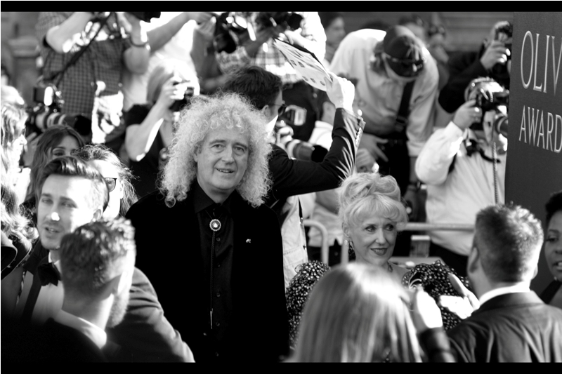 I was as pleased to photograph Queen bandmember Brian May as the next person, until inevitably his hair ended up obscuring views of Ruth Wilson, one of the few actresses I've photographed many times but *NEVER* as well as she (or I) deserve.