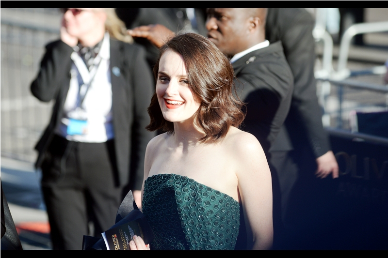 I also don't know who Sophie McShera is, but her dress is kind of the logical extension of what's been happening with Star Trek uniforms and Superhero costumes over the past decade, with everything that used to be smooth now having ridges and ripples and dots and stuff..