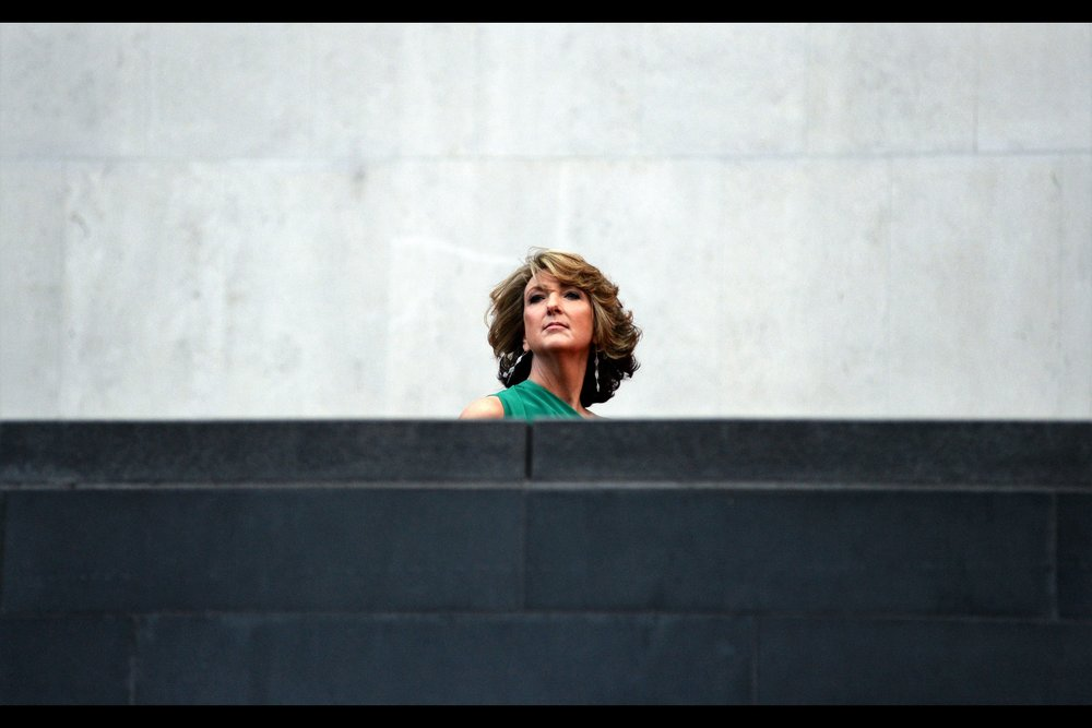 "Test shot on the off-chance anyone on the staircase landing across from me deigns to turn to their right and acknowledge the crowd like.. umm.... Steve here did.  (Edited to add : 'Steve' is Victoria Derbyshire, and she won a Bafta for 'Best News Broadcast"")"