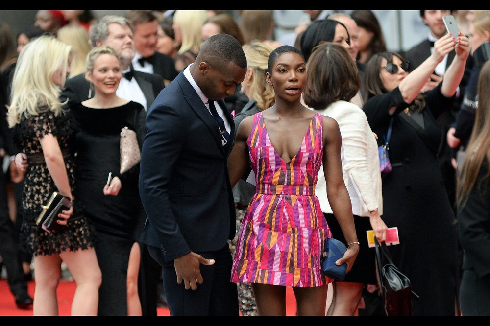 """My dress patterns can't cure astigmatism, Harold. My assistant was kidding""  I don't know who Michaela Coel is, but the dress is, if nothing, very easy for my autofocus system to catch on to."
