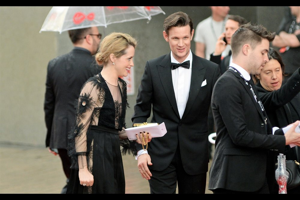"""Good call distracting them with ""OMG Matt Smith just went up those stairs"" "" - Matt Smith is also in The Crown, as well as having been a prior incarnation of Dr Who."