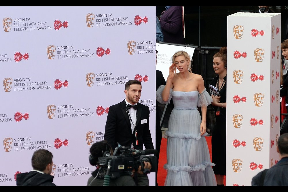 """Look, the dress is somewhat tight and it has been raining a bit... so can we have some decorum? Failing that, can we keep the whistling in a lower octave than you've been using?"" - Vanessa Kirby is also best known for being in The Crown, where she plays Princess Margaret."
