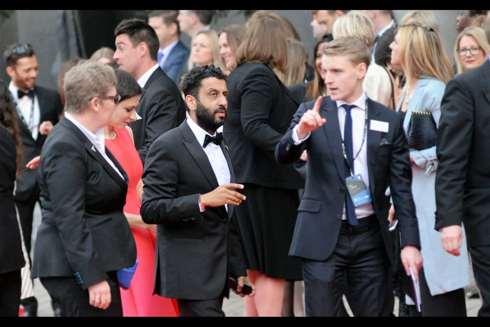 """The open-air bar is up there, and if you win a Bafta I promise I'll have it delivered to you personally"" - edited to add : he's Adeel Akhtar, and he won the award for Leading Actor on the night."