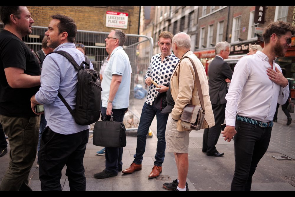 "I think the guy in the polka-dotted t-shirt might have been called ""Chris"", but you know what? The shirt looks amazing, so I personally think it doesn't matter as much as it might otherwise."