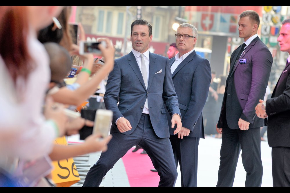 """Walking like this is how I stay limber and naturally flexible. Sure it makes me look slightly less, cool, but on the other hand even when I'm doing this I'm still verifiably Jon Hamm"""