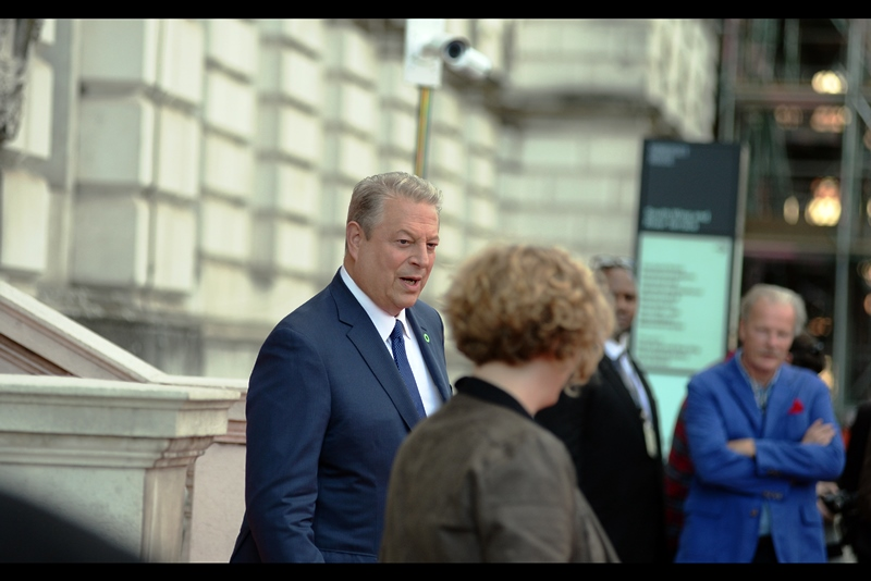 """That man's blue jacket overpowers mine, Janet. Make it stop""  - Al Gore has also won a Nobel Peace Price for his environmental work. All of a sudden, my achievements in the field of punctuality in High School don't seem quite as impressive. (And my jacket isn't as good as either)"