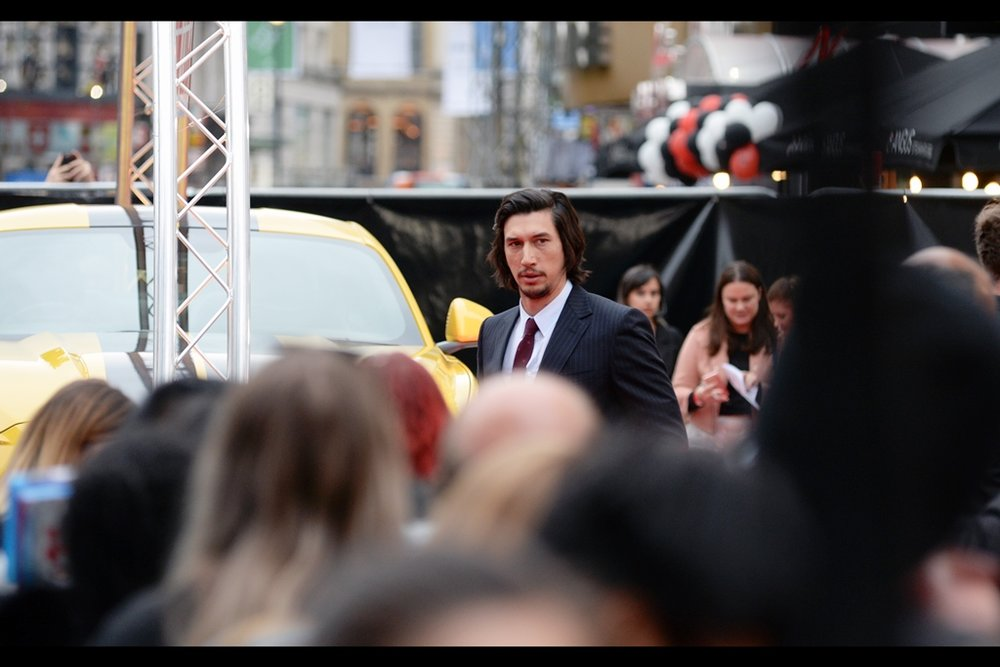 Good news for fans wanting to photograph Adam Driver : he's tall.