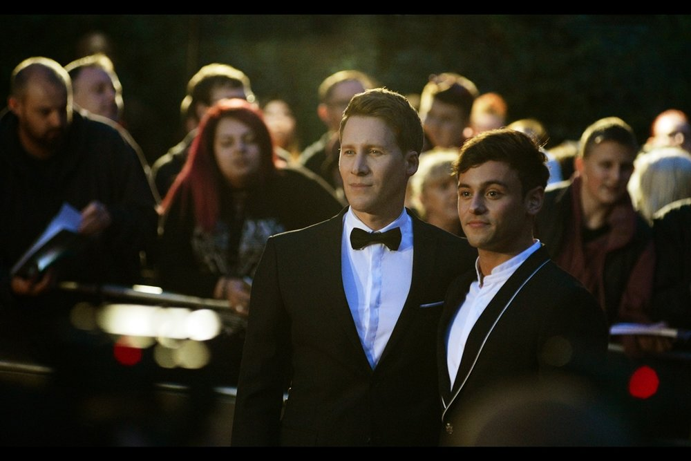 Olympic Diver Tom Daley (right), Man With Bow Tie (left)