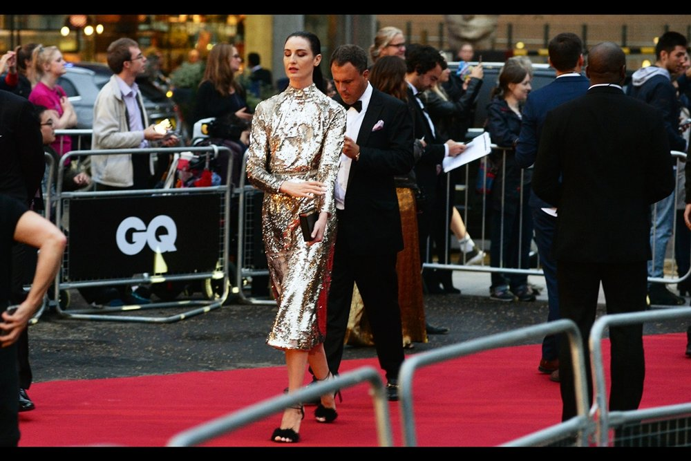 A tinfoil-wearing Erin O'Connor is being led blindly along the red carpet on a dare. Or so I presume, as I'm a bit distracted now that the crowd has realised star wars' Mark Hamill has arrived and might be induced to sign autographs if people shout loudly and desperately enough.