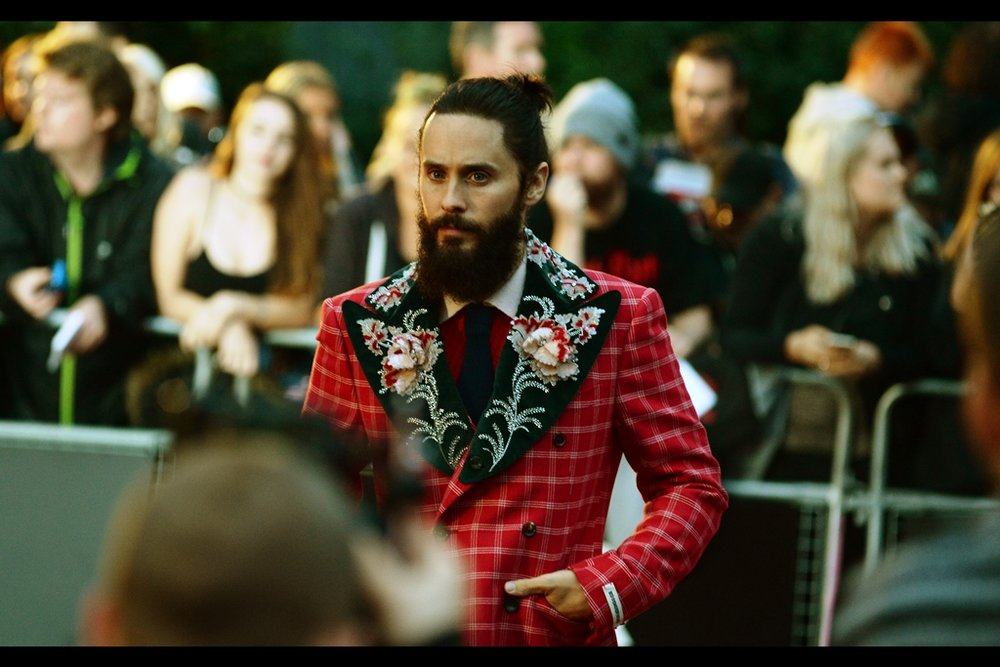 "Jared Leto's suit contains more embroidery than my apartment. (Who am I kidding, more than every apartment I've ever lived in, visited or walked past)  (edited to add that Jared Leto was named ""Best Actor"" on the night, and... well he was very good in Dallas Buyers Club, but that was four years ago!)"