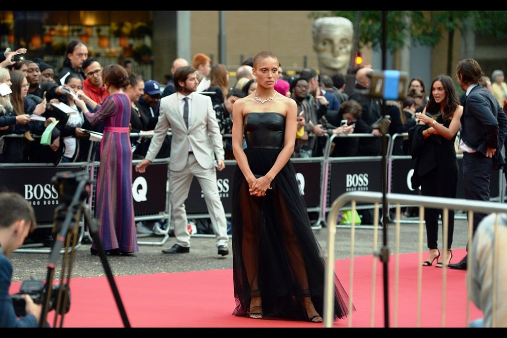 """Who am I? What am I wearing? Why are you photographing me? Why all the questions? Can I go now?""  - I do not know who this is. (edited to add : she's Adwoa Aboah, and she was named ""Woman of the Year"" at the event)"