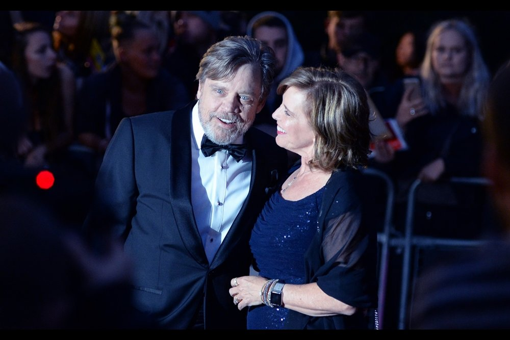 Luke Skywalker prefers to go by the name ' Mark Hamill ' when he's attending  the 2017 GQ Awards.. .