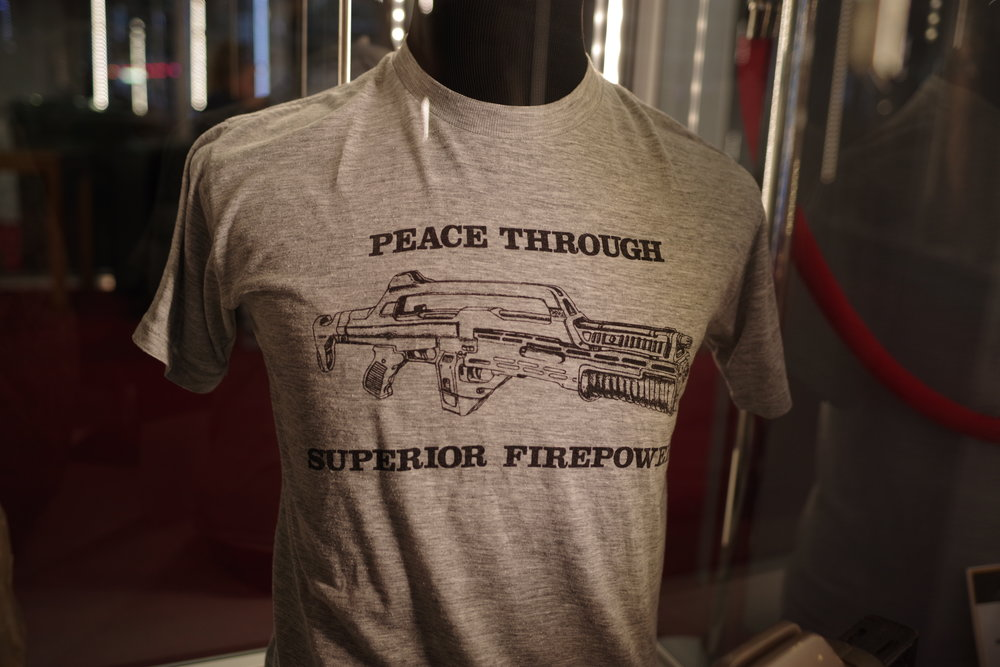 Prop T-shirt from Aliens (sweatstains unconfirmed)   (Winning bid for the Photo: £4,000!)