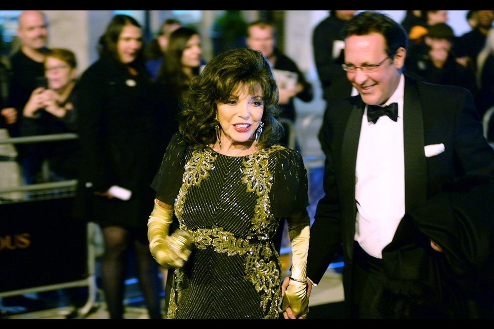 It's Joan Collins! She was also at   2015's BFI Luminous Gala   (where I first photographed her), and   this year's Television Baftas  .