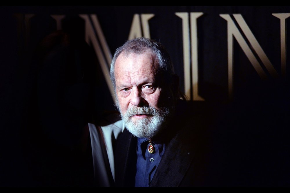 """I guess wihth a movie like 'zero theorem' there's infinite upside for sequels, sure""  Director Terry Gilliam went formal for this event, leaving behind his trademarked dishtowel cape in favour of not wearing a tie."