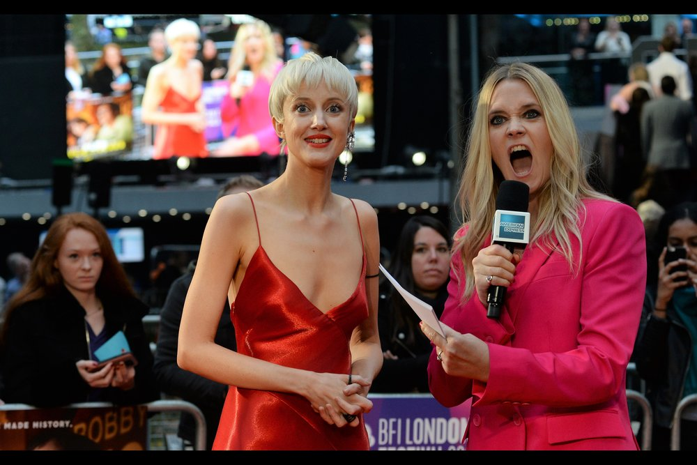 """OMG it's The Real Andrea Riseborough!!""   Well... if Edith Bowman is saying it then it must be true."