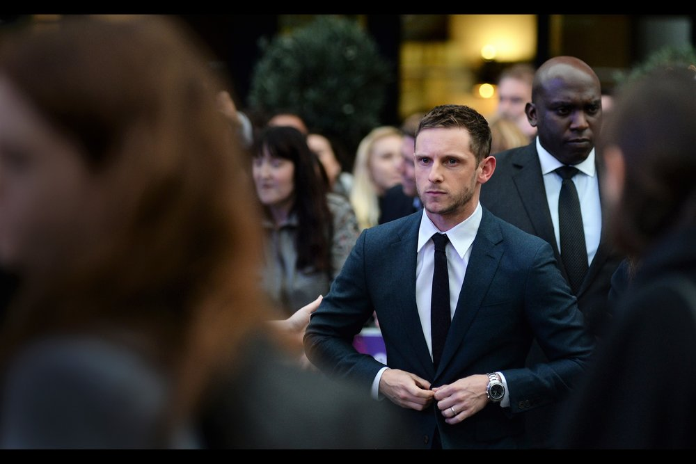 Our first arrival is the film's main star, Jamie Bell. He's possibly still best known for being the lead in Billy Elliot back in the year 2000 (ad), but has also been in Tintin : Secret of the Unicorn, and Peter Jackson's King Kong (2005).