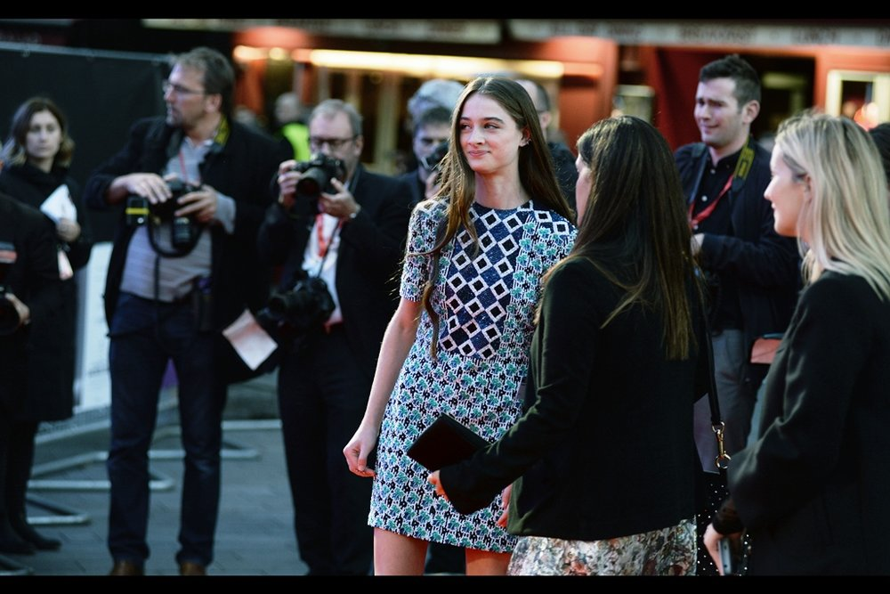 "The lovely Raffey Cassidy, who I photographed first at   the premiere of the underrated ""Tomorrowland""  , and last year at   the premiere of Robert Zemeckis' ""Allied""   is also in this movie (and her dress is exceedingly handy at using as the basis for my cameras' autofocus!)"