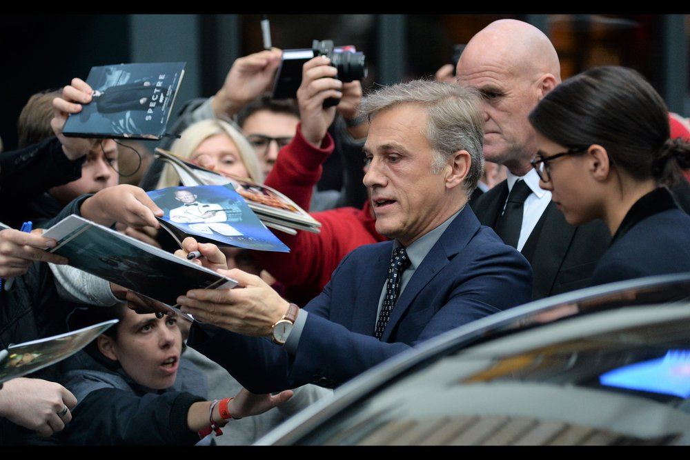 """Any one of you call me ""Christopher"", I'm stopping signing"" - Christoph Waltz is a dual-Oscar Winner (best supporting actor for ""Inglourious Basterds"" and ""Django Unchained"") and the reason why I have a Kevin Bacon score of 3."