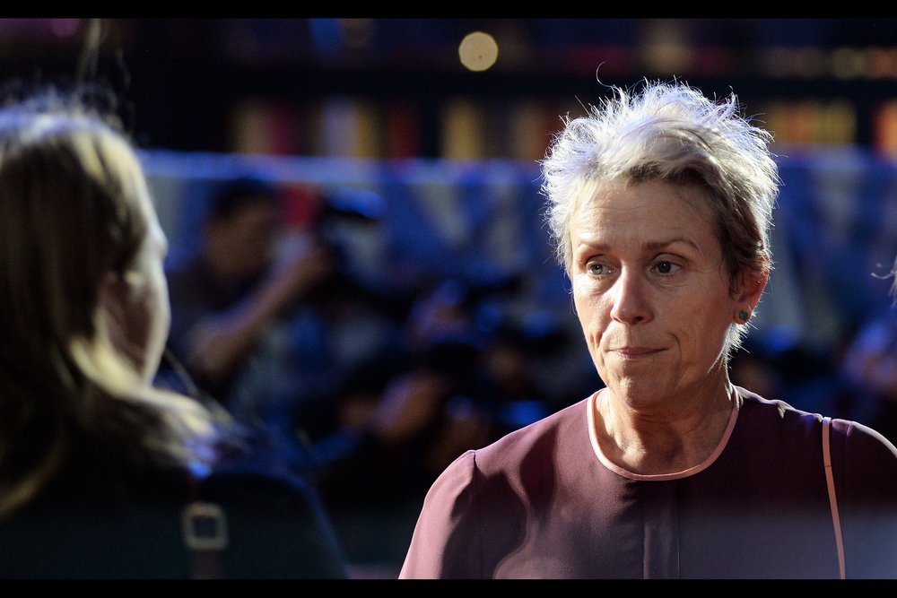 It's Frances McDormand! She won an Oscar for 'Fargo (1996)' and hopes nobody remembers she was in Transformers : Dark of the Moon even if it was no doubt a handy payday. And having photographed her, that's two tick-marks on my list of four.