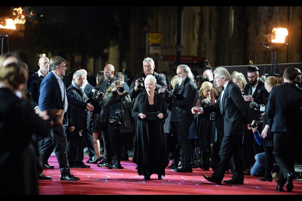 """You cleared the carpet so I could sprint maniacally along it in a zig-zag pattern with gleeful abandon? I'm touched... but I might just walk if that's okay"" - Dame Judi Dench is in this movie, and one of the two James Bond movies that also had their premieres at the Royal Albert Hall (Skyfall)"