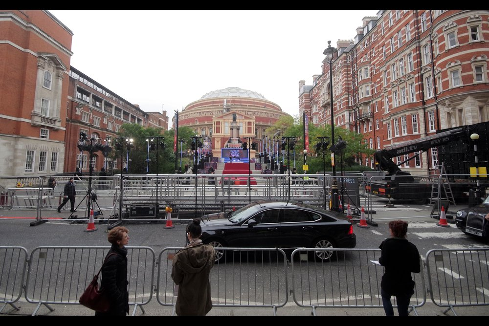 This year, the Royal Albert Hall hosted   The Baftas   and   The Oliviers   (and composer   Michael Giacchino's 50th   Birthday). But it rarely hosts premiers... and when it does they're invariably HUGE. Like...James Cameron's   Titanic in 3D  , and James Bond's   Skyfall   and   Spectre   HUGE.
