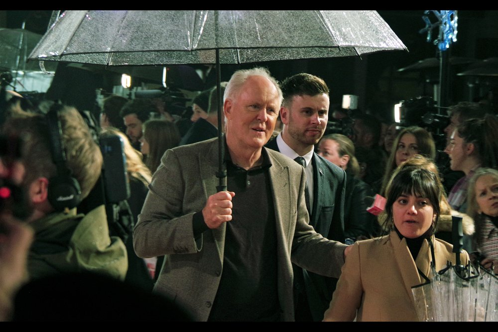"""You need to stay next to me. I like feeling this tall""  - John Lithgow plays Will Ferrell's father in the film, and I hope that isn't a spoiler but it seemed pretty clear from the trailers."