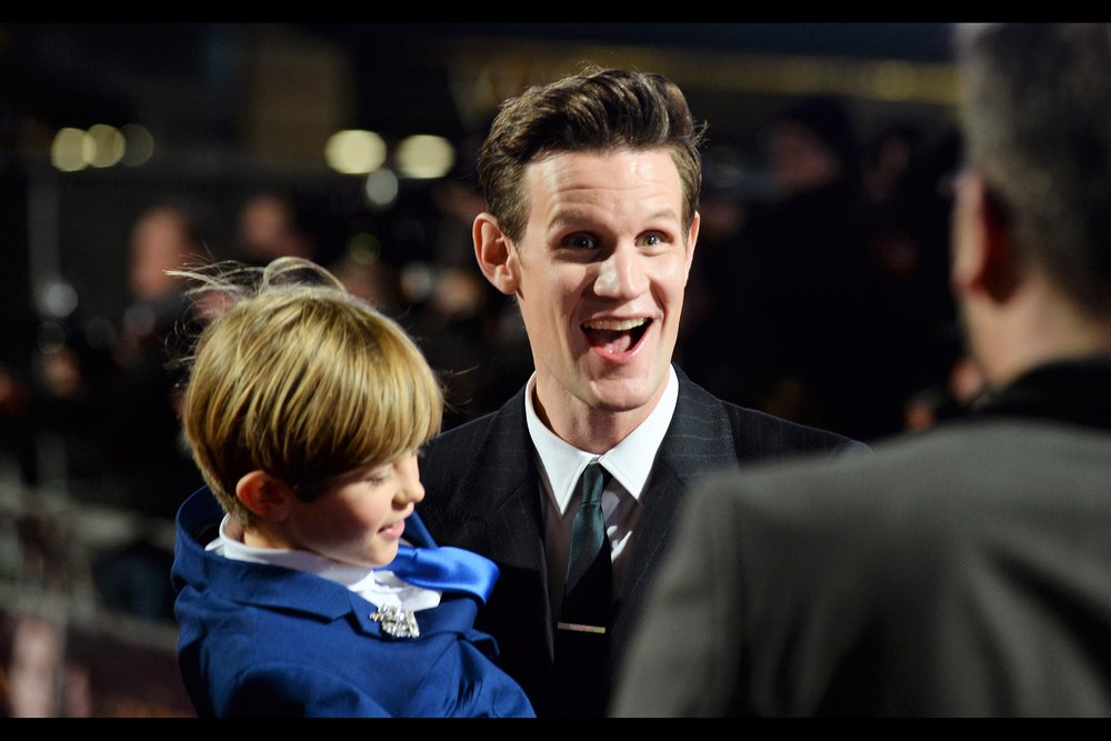 """He's so cute, and since the real Prince Philip got to 'keep' Prince Charles isn't there some kind of way I can keep him too?""  - Matt Smith was a prior incarnation of the famed Doctor Who, but was also in (and fun in)   'Pride & Prejudice & Zombies'"