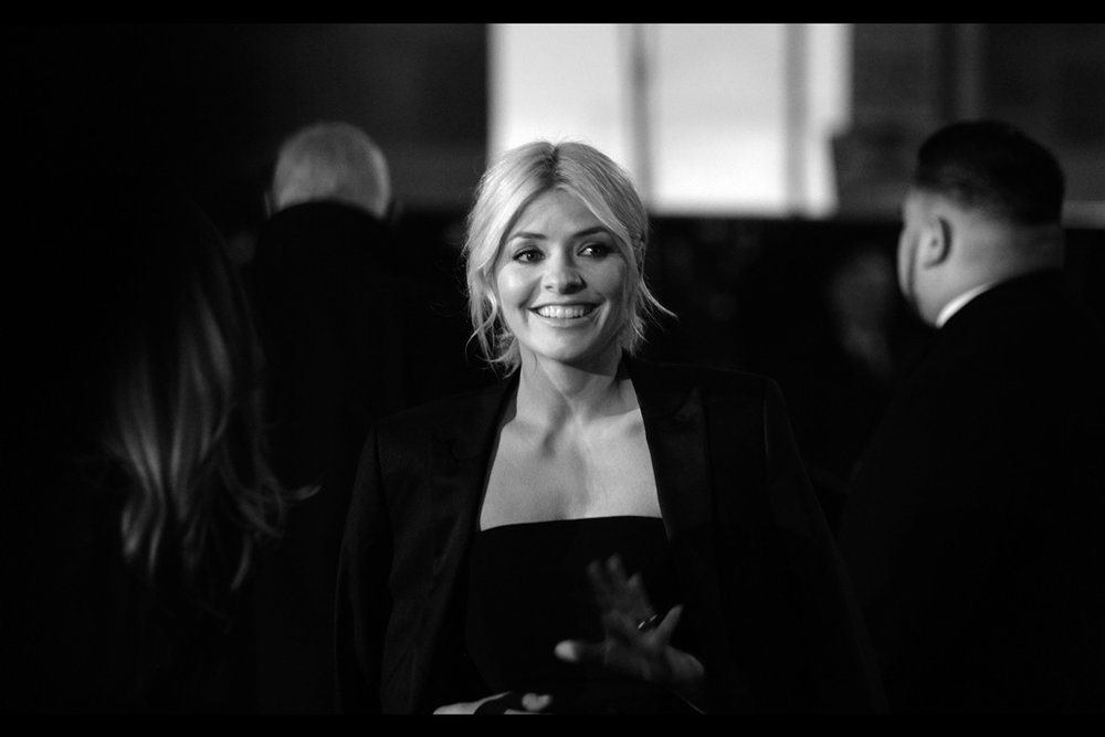 Holly Willoughby - last photographed at the   Pride of Britain Awards  . Character synopsis : appears cheerful. That's all I've got so far.