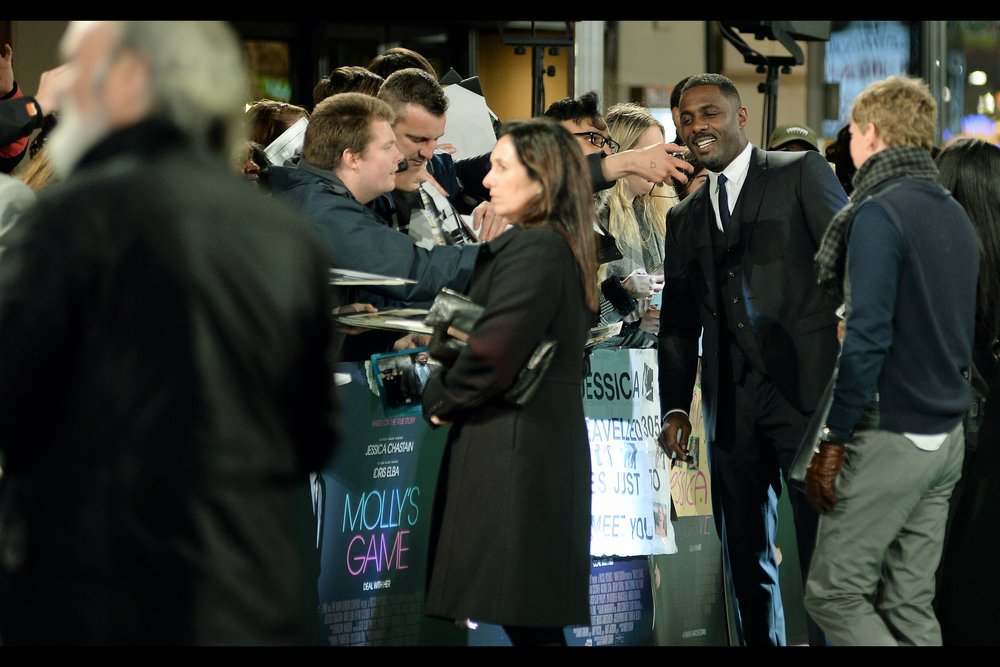 """I don't really want you to record an endorsement for a product I haven't actually tried. How about if I only say that I have reason to believe that it's possible the product might be okay but I can't say for certain? Would still that work?""  - Idris Elba was most recently in (or rather/more importantly photographed by me at)   the premieres of 'Star Trek Beyond'   and   '100 Streets'"
