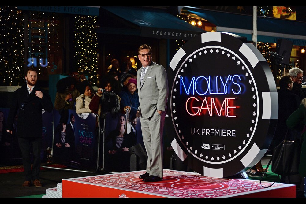 "Aaron Sorkin is the director and screenwriter of ""Molly's Game"" - he won an Oscar for best adapted screenplay for the brilliant 'The Social Network', got a nomination for the outstanding 'Moneyball' and how the movie   'Steve Jobs'   didn't get more love for its screenplay and overall excellence I'll never know."