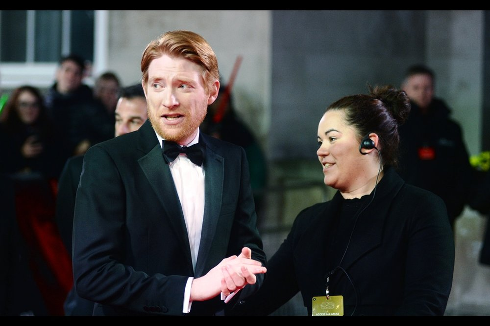 """General Hux doesn't sign autographs. Instead, he shouts at people at length to explain why he can't sign autographs, and I don't want to do that either...""  - unlike his character, Domhnall Gleeson seems to be quite nice and unpsychotic."