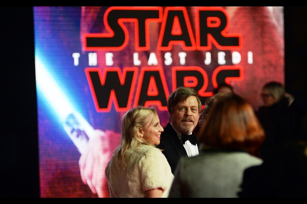 2017 Finishes (for me) with arguably the biggest premiere of the year - the   European premiere of  Star Wars : The Last Jedi