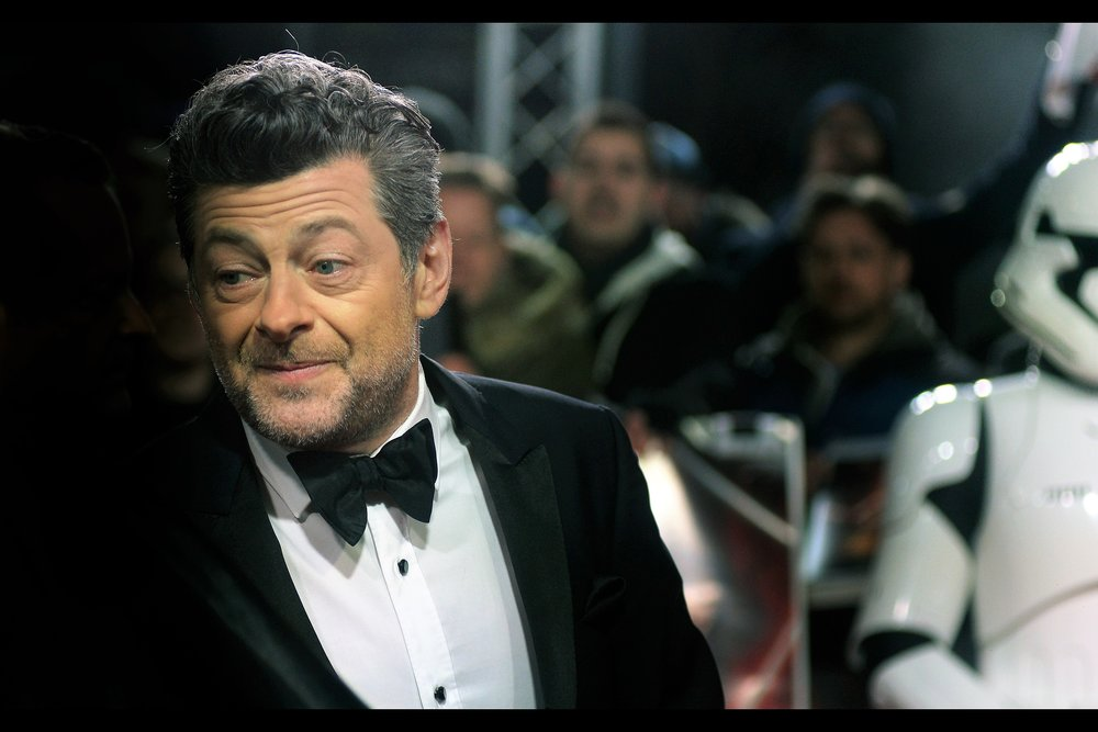 """No, but I can motion capture myself autographing that, and send you the animatics file?""  - I last photographed Andy Serkis at the    BFI London Film Festival opening gala of 'Breathe'    which he directed."