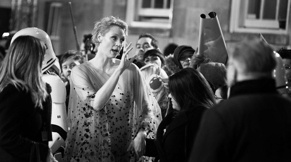 Gwendoline Christie Star Wars Premiere