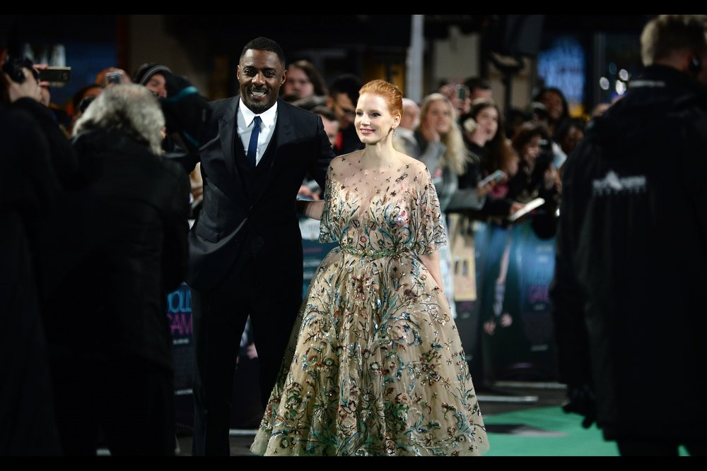 "December 6th : Idris Elba and Jessica Chastain were the main draws, but director Aaron Sorkin, composer Daniel Pemberton and the REAL 'Molly' in    ""Molly's Game""    also attended the premiere."
