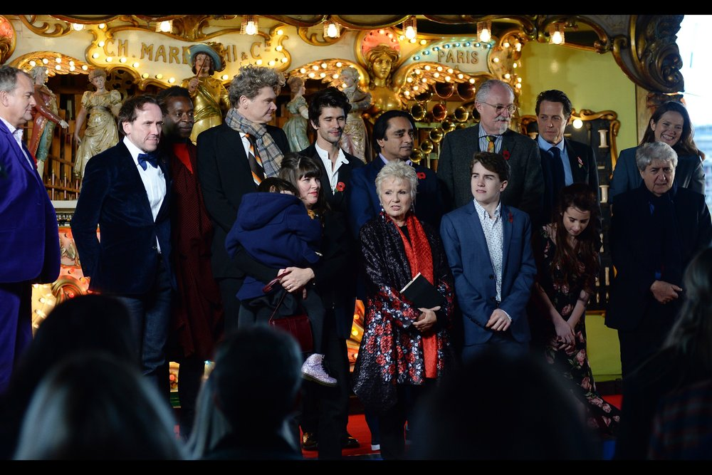 November 5th : The whole cast attended the    World Premiere of 'Paddington 2'    - held under a bridge on a cold weekend morning.