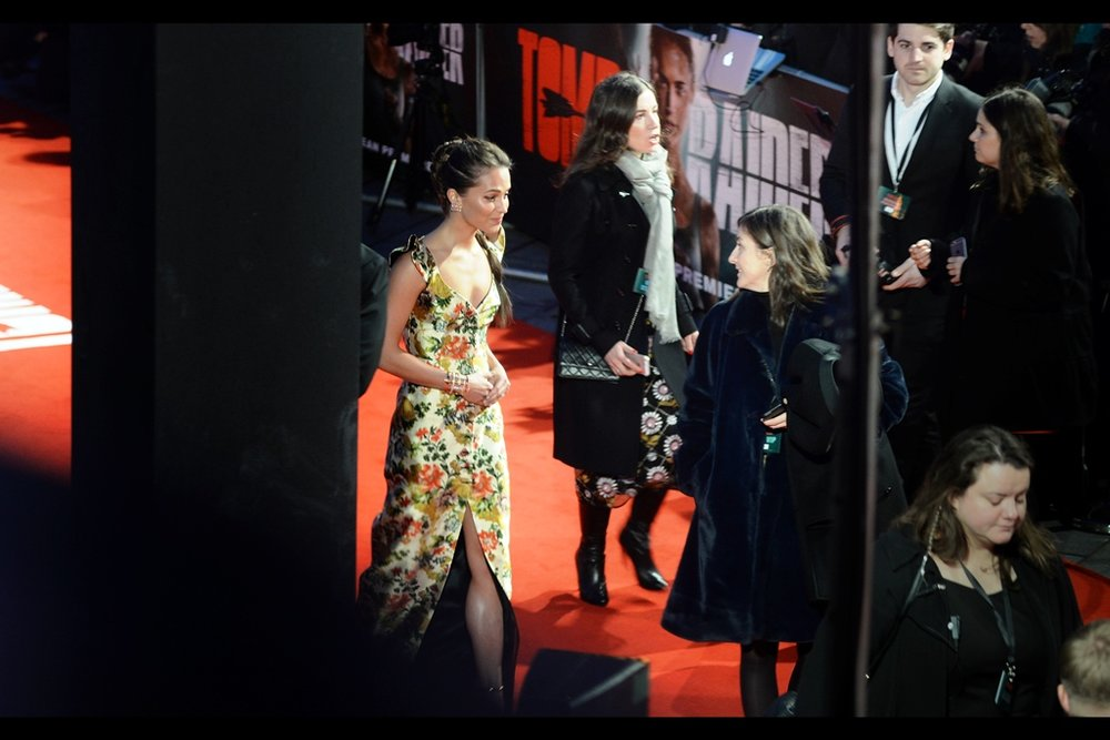 """Most of the people over there want an autograph. A couple want to ogle your dress. Actually to be honest most of those people are the same people""  Alicia Vikander won a best supporting actress Oscar for    'The Danish Girl', whose premiere she also attended."