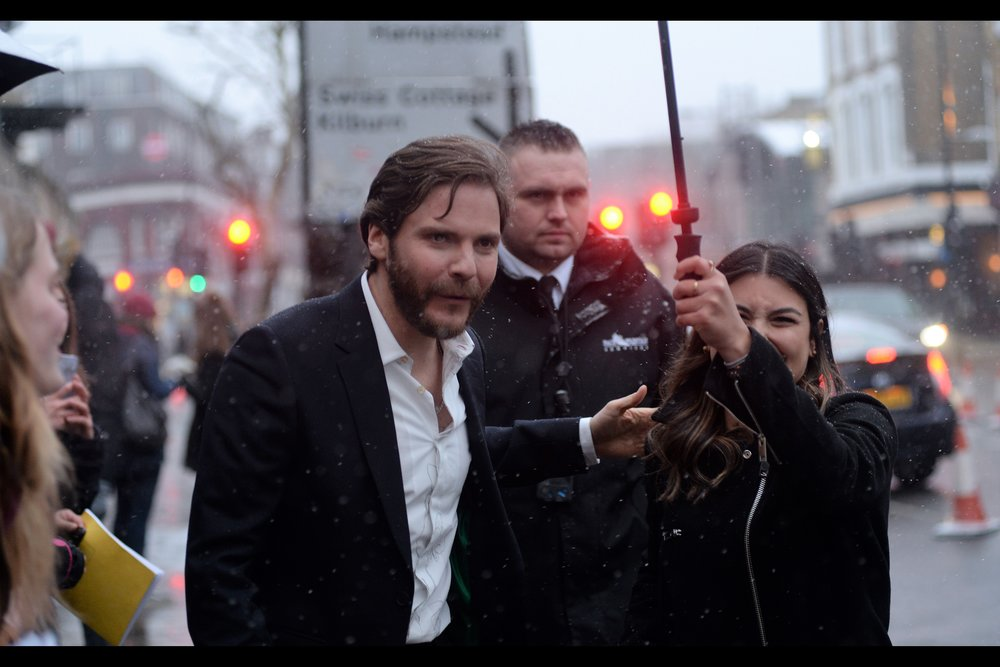 """I got this. Snow is nothing to me"".  Daniel Brühl has been in excellent in such diverse films as    Ron Howard's ""RUSH""   , The Russos'    ""Captain America Civil War""    and other films - many German - that I wasn't at the premiere of, like Joyeux Noel, Goodbye Lenin and The Edukators."